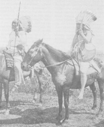 Mounted Comanche Warriors