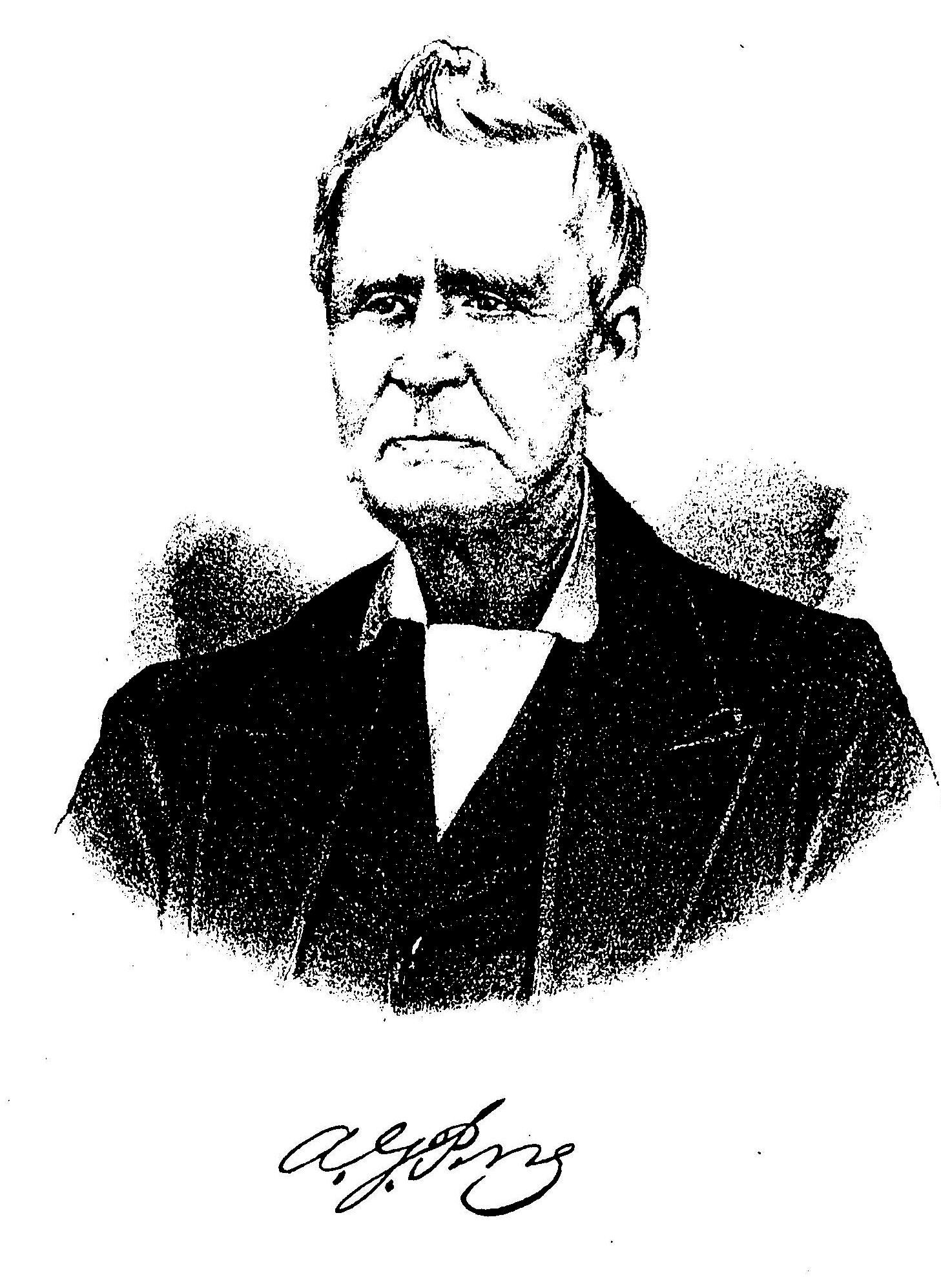 Albert G. Perry (From Memorial and Biographical History of McLennan, Falls, Bell and Coryell Counties Texas, 1893; courtesy descendant David Perry)